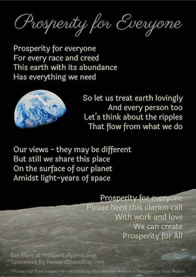 Prosperity for Everyone Poem