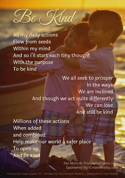 Kindness Poem by . Christopher Westra